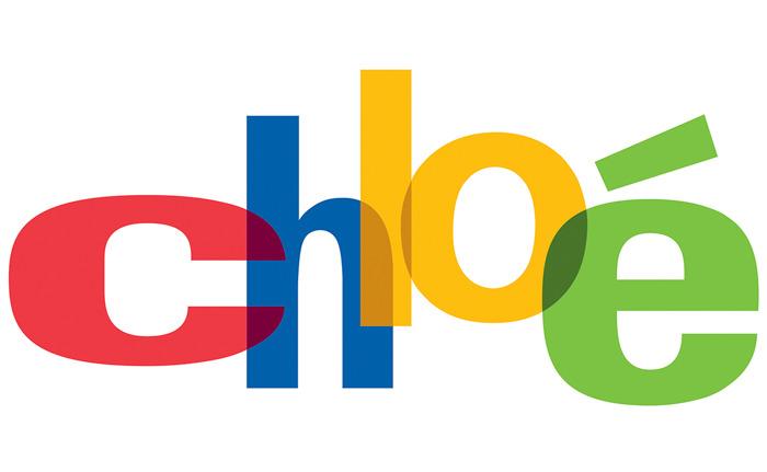 Diseñador gráfico coloca nombre de firmas de moda en logos