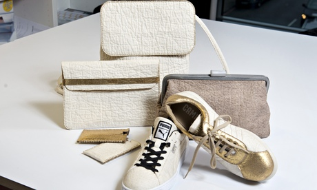Goods made from leather-alternative Pinatex, designed by Carmen Hijosa